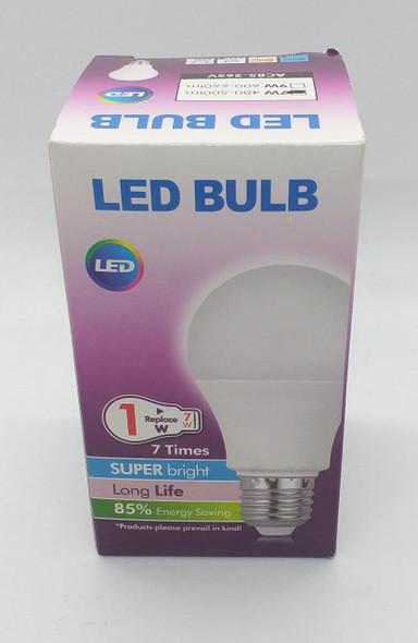 BULB LED 7W 480-500LM E27 85-265V SUPER BRIGHT PURPLE BOX