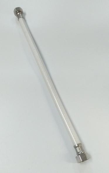 """FLEX HOSE 1/2""""X1/2"""" X12"""" PVC WITH METAL ENDS"""