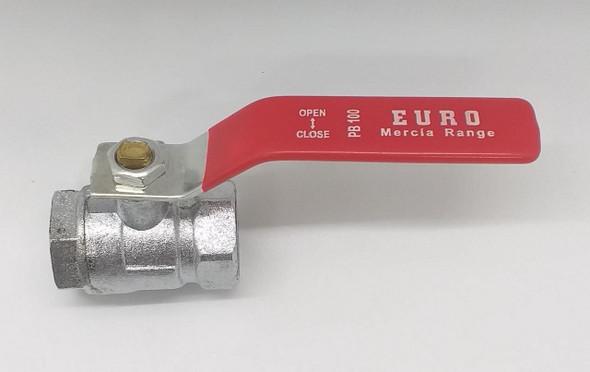 "LEVER VALVE 1/2"" NICKLE EURO PB 100 MERCIA RANGE"