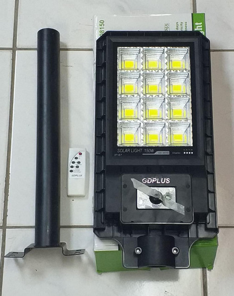SOLAR LIGHT 150W GDPLUS GD-98150 WITH POLE AND REMOTE