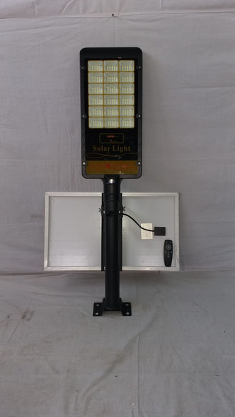 SOLAR LIGHT 180W LED WITH PANEL, POLE AND REMOTE STREET