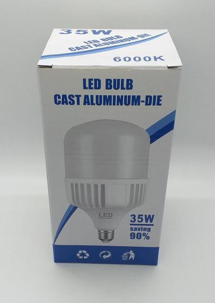 BULB LED 35W 6000K 85-265V E27 CAST ALUMINUM-DIE