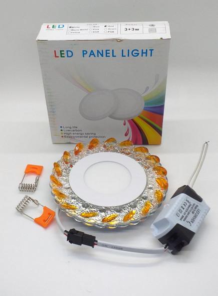 LIGHT LED PANEL 3+3W SURFACE 2 COLOR DECORATIVE