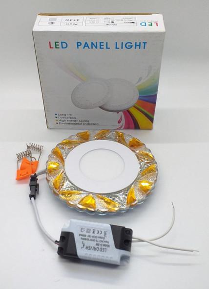 LIGHT LED PANEL 3+3W SURFACE 2 COLOR 110/220 DECORATIVE