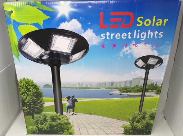 SOLAR LIGHT 250W LED WITHOUT POLE STREET 5-WAY BUILT-IN PANEL W