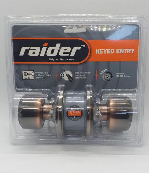 LOCK KNOB RAIDER AC KEYED #3921 AC-ML-ET