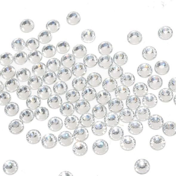 Nails Queenme 2100pcs Flat Back Crystals Clear Rhinestones Mix Size 2mm-6mm Flatback Art Rhinestones Round Glass Gems Stones for Shoes DIY Crafts Decoration With Wax Pen and Tweezers