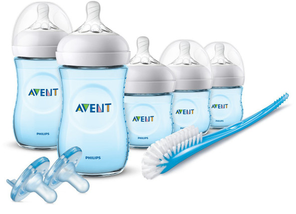 Baby Philips Avent Natural Baby Bottle Blue Gift Set, SCD206/12