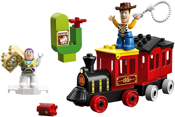 Toy LEGO DUPLO Disney Pixar Toy Story Train 10894 Perfect for Preschoolers, Toddler Train Set includes Toy Story Character favorites Buzz Lightyear and Woody (21 Pieces)