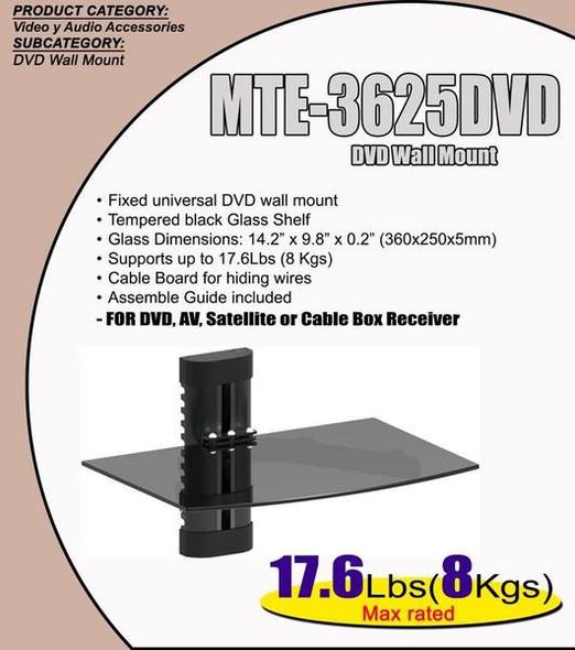 TV WALL BRACKET MTE-3625DVD NA 2 SHELF