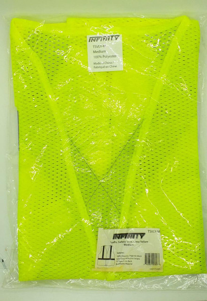 SAFETY VEST INFINITY LIME YELLOW MED #TSVLY-M