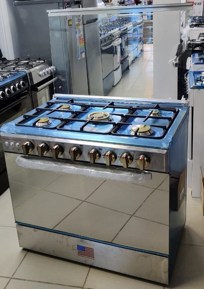 """STOVE 5 BURNER EMERALD 36"""" NORMAL STAINLESS STEEL"""