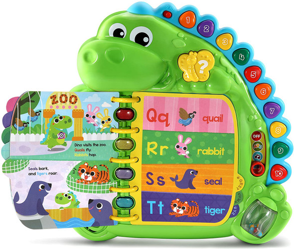 Toy LeapFrog Dino's Delightful Day Alphabet Book, Green 80-600500