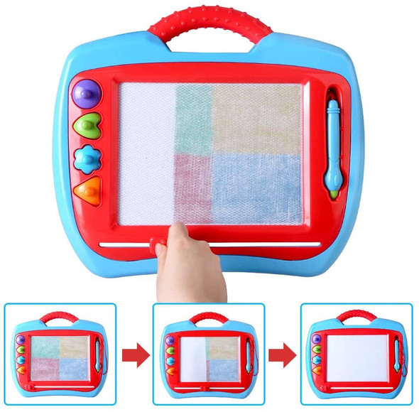 Toy BeebeeRun Drawing Doodle Board,Magnetic Writing Board Game-Erasable Colorful Education Sketching Learning Notepad Toys for Toddlers Kids, STEM Toys for 3 4 5 6 7 Year Old Girls Boys