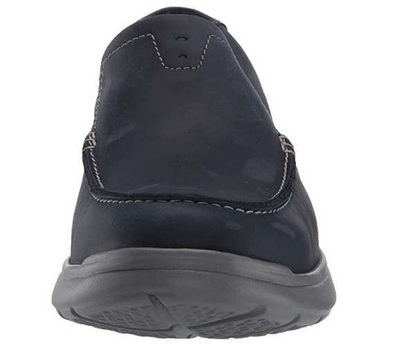 Footwear Clarks Men's Cotrell Easy Loafer Navy Combi Leather