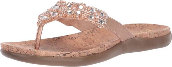 Footwear Kenneth Cole REACTION Women's Glam-athon Thong Sandal Rose Gold