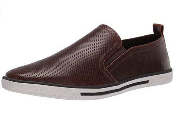 Footwear Unlisted by Kenneth Cole mens Crown Slip on Sneaker Dark Brown