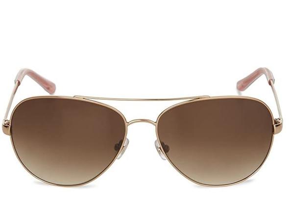 Sunglasses Kate Spade New York Women's Avaline Aviator Rose Gold