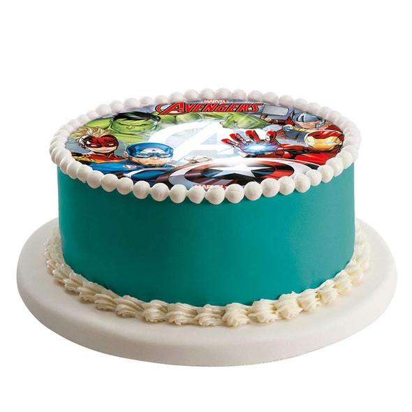 BAKING Cake Topper Edible Image Marvel Avengers Round 8 inch