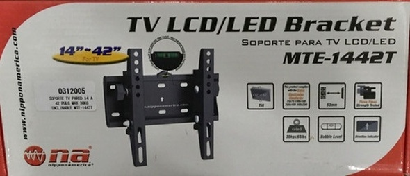 "TV LCD WALL BRACKET MTE-1442T 14-42"" NIPPON AMERICA"