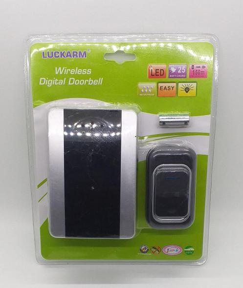 DOOR BELL WIRELESS LUCKARM BLACK DIGITAL  MODEL 3906