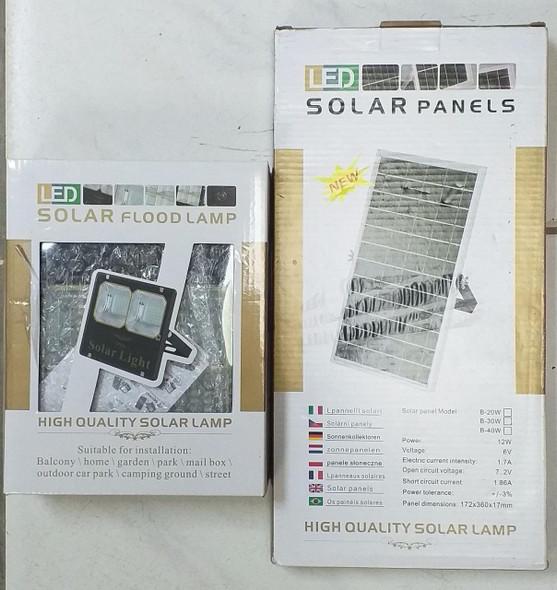 LIGHT LED SOLAR 30W FLOOD LAMP DOUBLE IP66