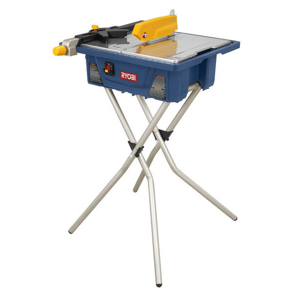 """TILE CUTTER RYOBI 7"""" #WS720SBF WET TILE W/STAND"""