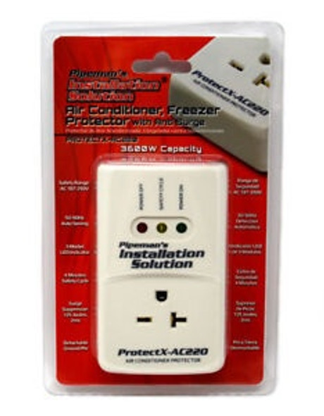 SURGE PROTECTOR AIR CONDITIONER PROTECTX-AC220 PIPEMAN'S AC VOLTAGE