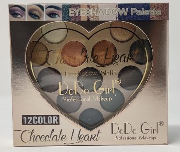 Makeup Eye Shadow Do Do Girl 12 Colors Chocolate Heart D3154