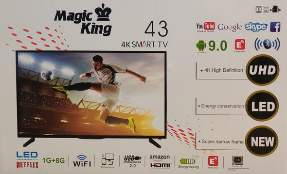 "TELEVISION MAGIC KING 43"" SMART LED 9.0 43D16C"