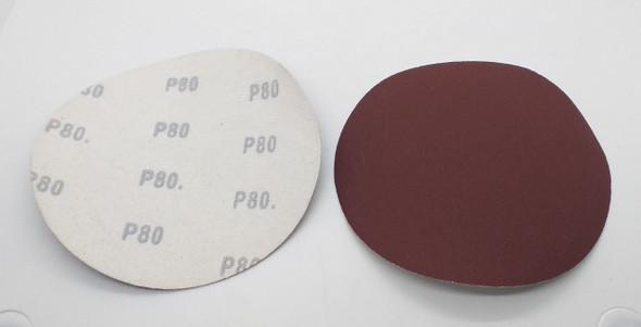 """SAND DISC VELCRO 6"""" P80 WHITE BACK"""