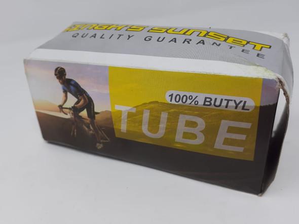 "BICYCLE TUBE 16"" 16X1.95/2.125 A/V 100% BUTYL SINGH SUNSET"