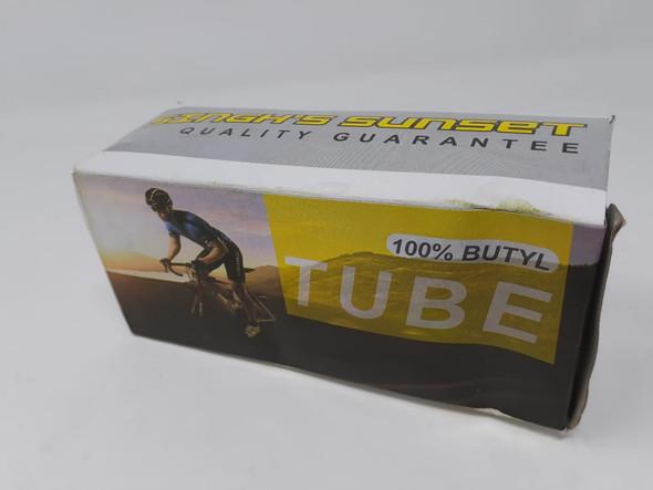 "BICYCLE TUBE 12"" 12X1.95/2.125 A/V 100% BUTYL SINGH SUNSET"