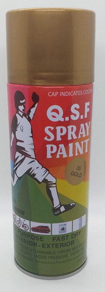 TIN SPRAY PAINT Q.S.F GOLD #35