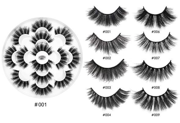 Makeup Eyelashes DYSILK Natural 6D Mink False Eyelashes, Dramatic Look, Fluffy False Eyelashes, Makeup Extension, Handmade Long Lashes, Soft Thick Lashes, Reusable, 7 Pairs