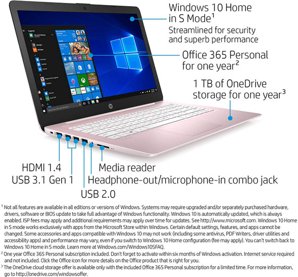 LAPTOP HP 14-CB188NR Rose Pink