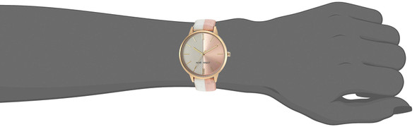 WATCH Nine West Women's Accented Leather Strap NW/2440WTLP