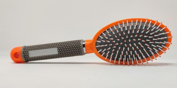 HAIR BRUSH 1499 GREY RUBBER HANDLE