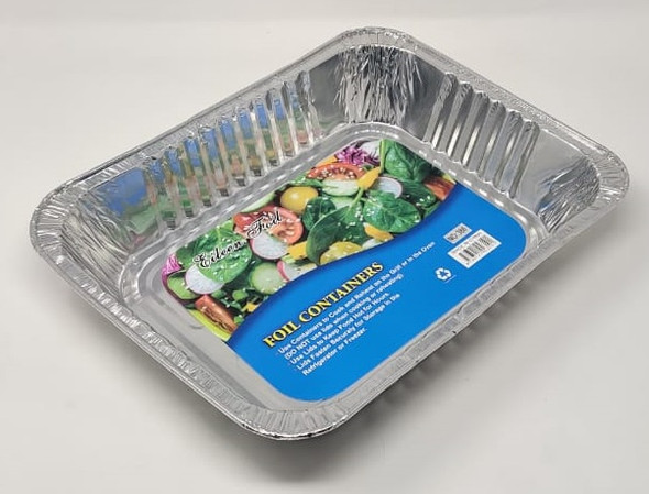 FOIL TRAY HALF 386 CONTAINER PAN EILEEN