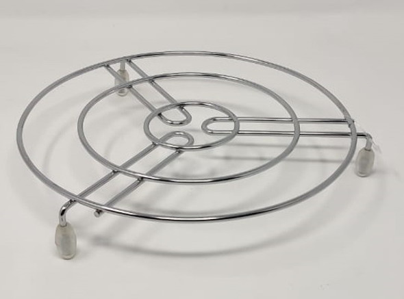 POT REST ROUND STAINLESS STEEL B003 WITH CLEAR RUBBER FOOT B-001