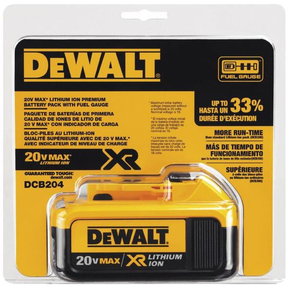 DRILL GUN BATTERY DEWALT 20V 4AH DCB204