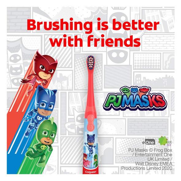 Toothbrush Kids Colgate Kids Battery Powered  Pj Masks Extra Soft Bristles
