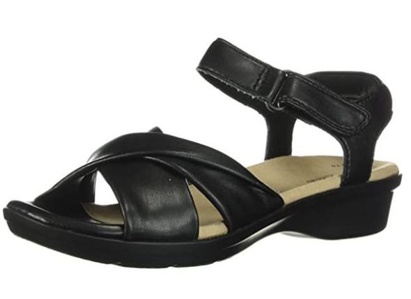 Footwear Clarks Women's Loomis Chloe Sandal Black Synthetic
