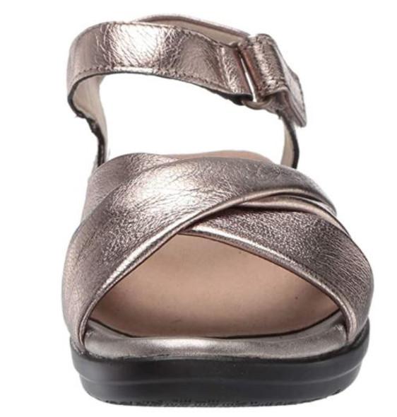 Footwear Clarks Women's Loomis Chloe Sandal Metallic Leather
