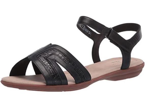 Footwear Clarks Women's Ada Mist Sandal Black Leather/Synthetic Patent