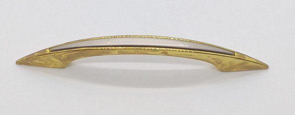 """DRAW HANDLE CURVE GOLD WITH SILVER TOP 6"""" #12"""