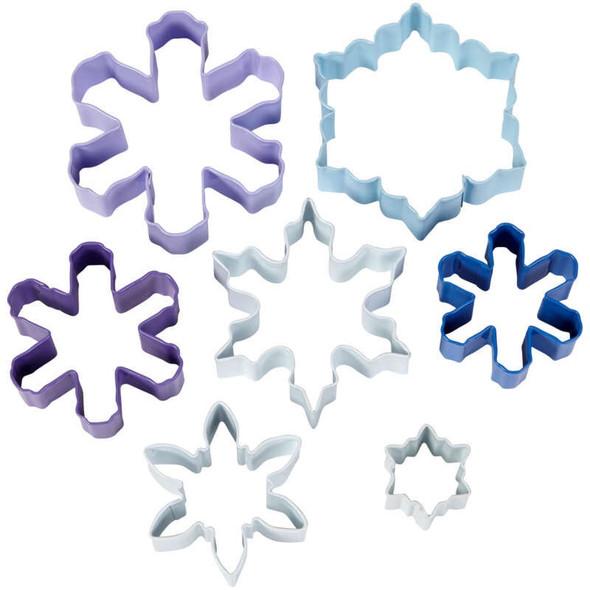 BAKING WILTON COOKIE CUTTER SNOWFLAKE 7PCS SET 2308-3803