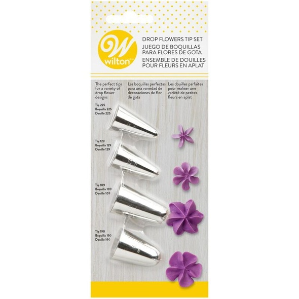 BAKING WILTON TIP DROP FLOWER 4PCS TIP SET 418-4569
