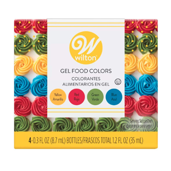 BAKING WILTON ICING COLOR GEL FOOD COLORS PRIMARY 4PCS 35ml 601-5581