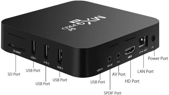 TV BOX ANDROID 10.1 2G+16G MXQ PRO 5G 4K UCD 3840X2160